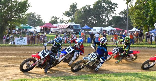 short track gmc motorcycle flat track